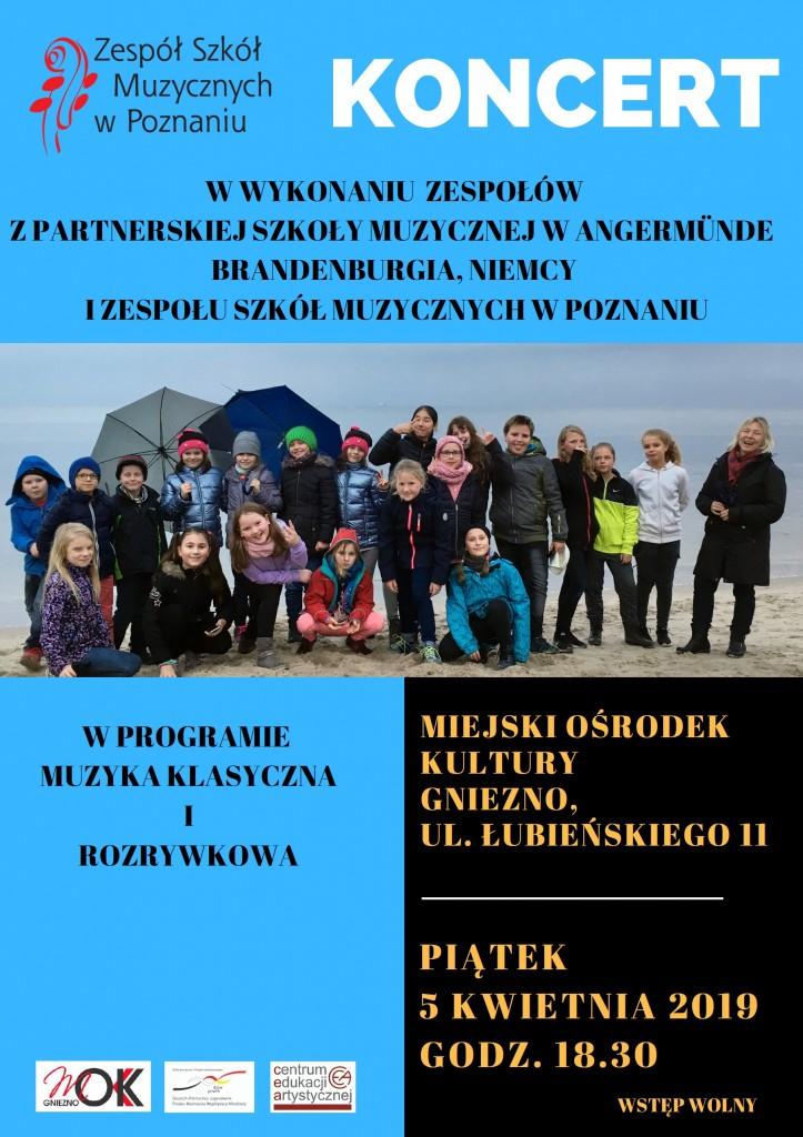 plakat_Koncert ZS Muzycznych w Poznaniu